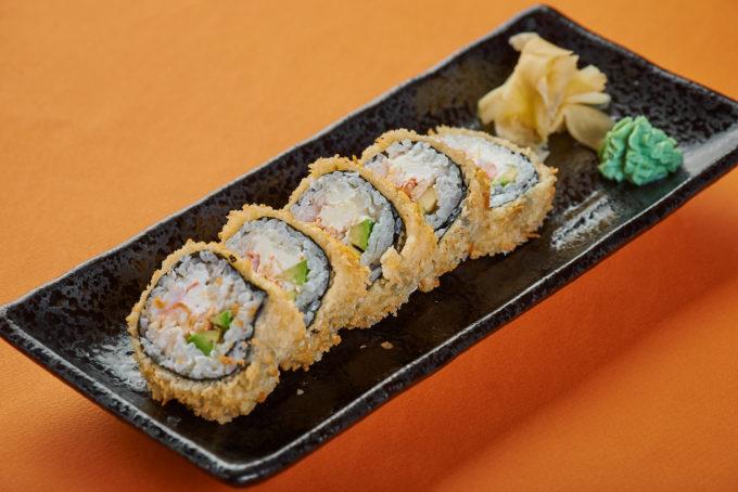 香酥蟹肉鲜虾奶油芝士寿司 750₽