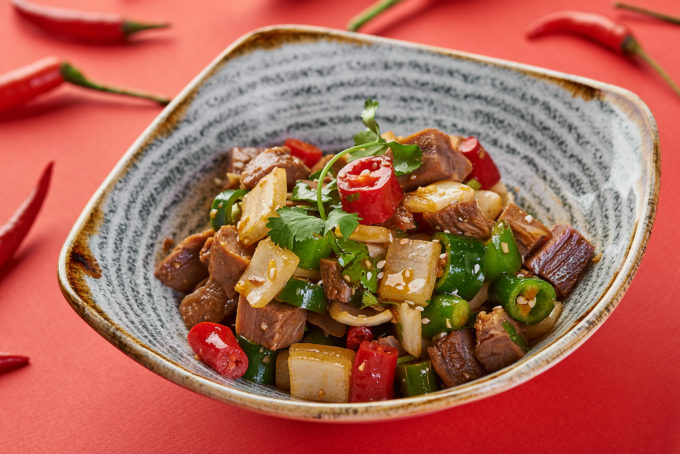 Sichuan-style beef cubes 700₽