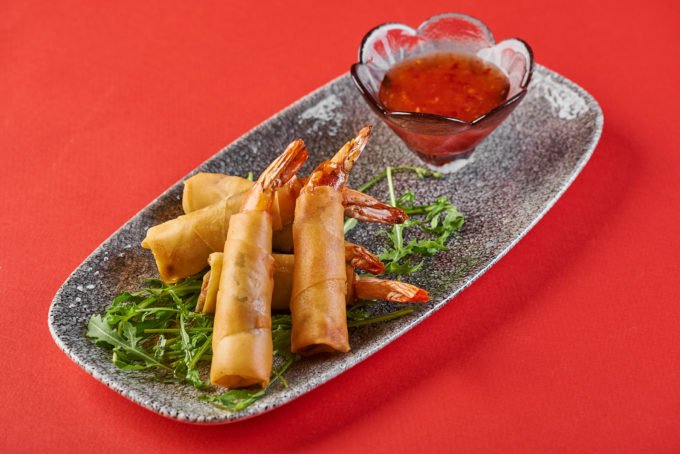 Crispy spring rolls with shrimps 800₽