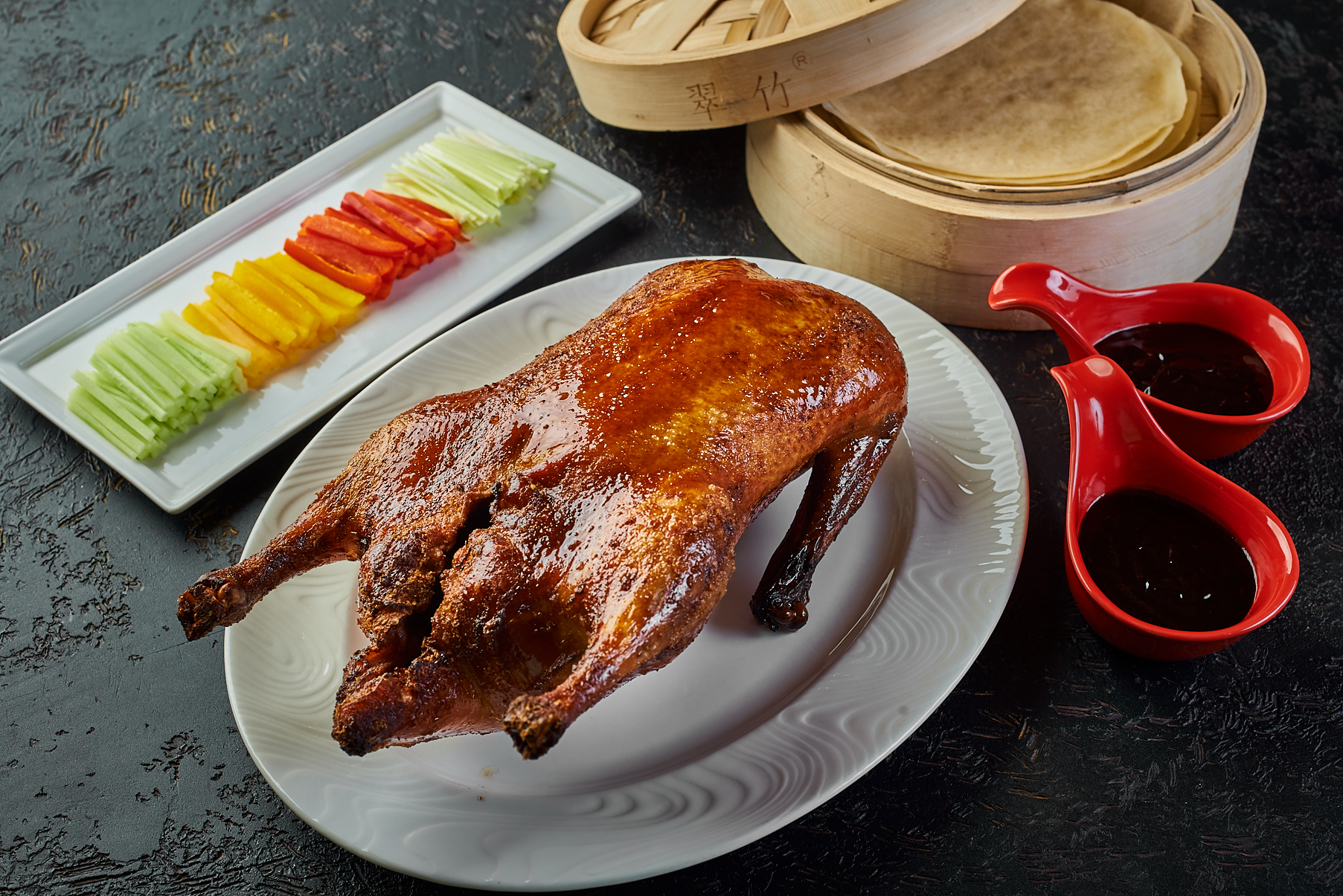 Peking duck with pancakes and vegetables 4500₽