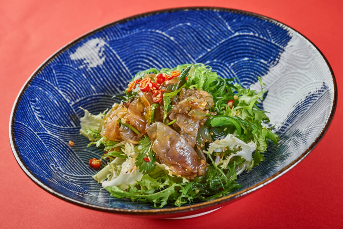 Salad with seaweed and jellyfish 1200₽