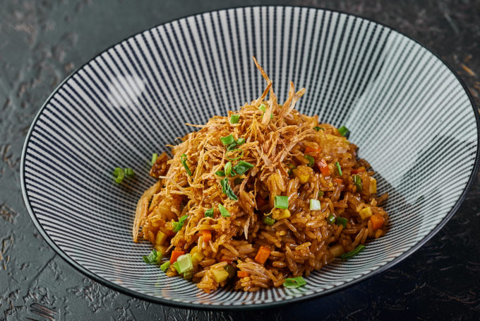 Fried rice with vegetables 400₽